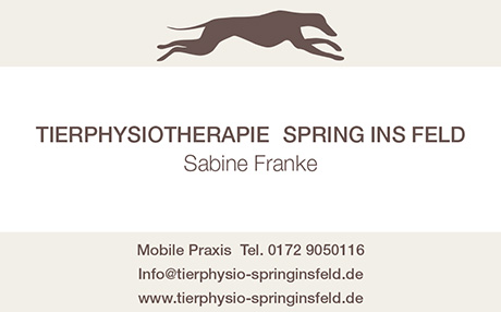Sabine Franke - Tierphysiotherapeuthin