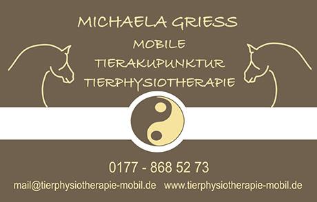 Michaela Griess - Tierphysiotherapie